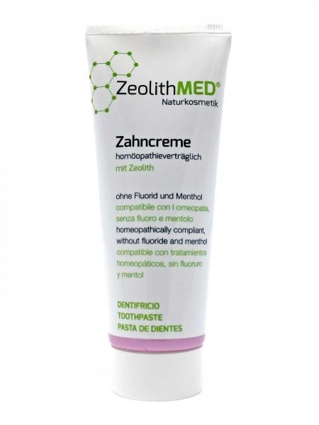 Zeolith MED® Zahncreme homöopathieverträglich 75ml, ohne Fluorid, mentholfrei