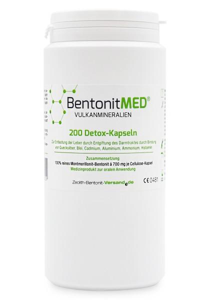 Bentonit MED® 200 Detox-Kapseln für 33 Tage