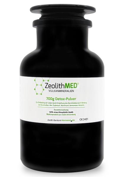 Zeolith MED® Detox-Pulver 700g für 70 Tage im Violettglas