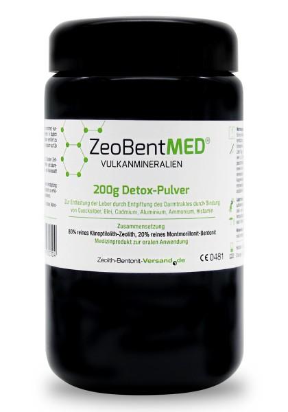 Zeobent MED® Detox-Pulver 200g für 20 Tage im Violettglas