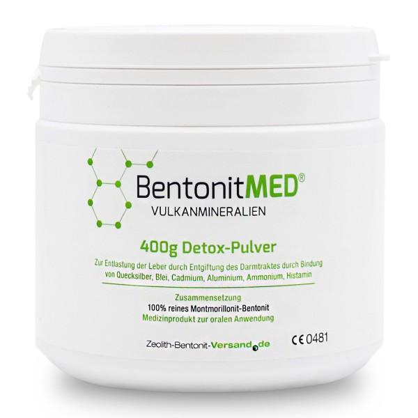 Bentonit MED® Detox-Pulver 400g für 40 Tage