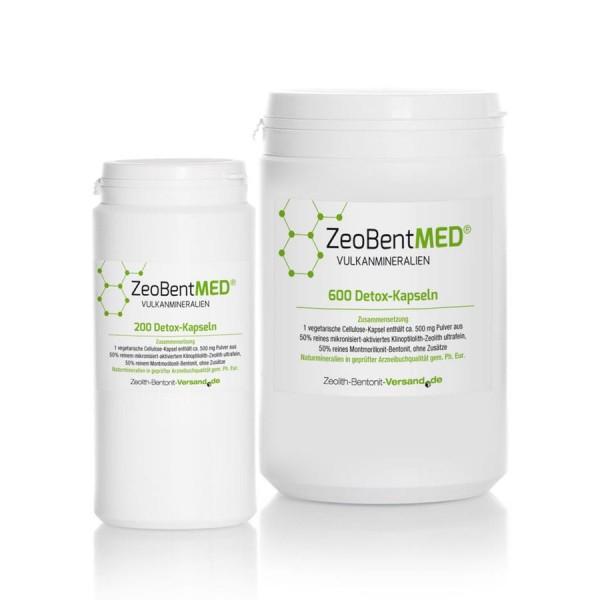 Zeobent MED® 800 Detox-Kapseln für 133 Tage im Sparpack