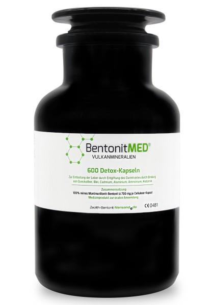 Bentonit MED® 600 Detox-Kapseln im Miron Violettglas