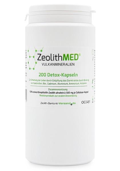 Zeolith MED® 200 Detox-Kapseln für 33 Tage