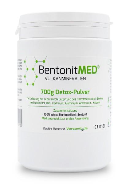 Bentonit MED® Detox-Pulver 700g für 70 Tage