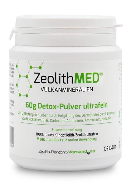 Zeolith MED® Detox-Pulver ultrafein 60g für 20 Tage