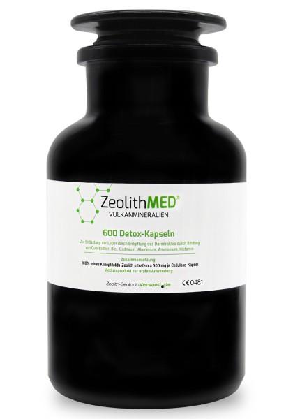 Zeolith MED® 600 Detox-Kapseln im Miron Violettglas