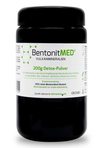 Bentonit MED® Detox-Pulver 200g für 20 Tage im Violettglas