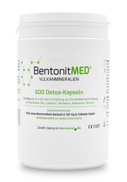 Bentonit MED® 600 Detox-Kapseln für 100 Tage