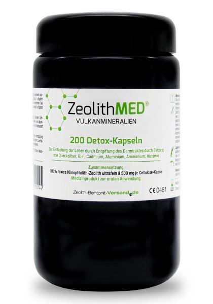 Zeolith MED® 200 Detox-Kapseln im Miron Violettglas