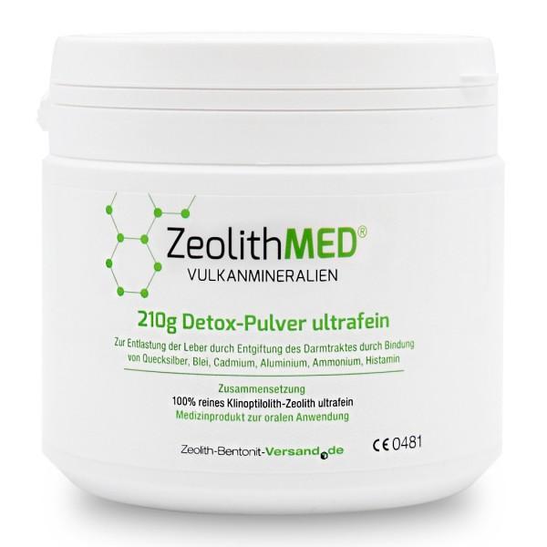 Zeolith MED® Detox-Pulver ultrafein 210g für 70 Tage