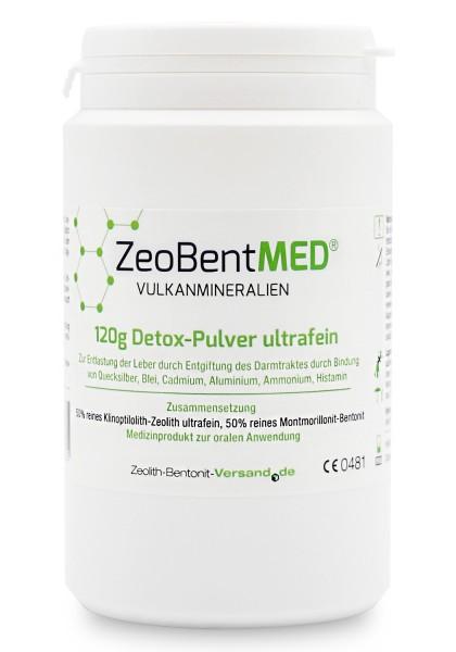 Zeobent MED® Detox-Pulver ultrafein 120g für 40 Tage
