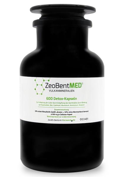 Zeobent MED® 600 Detox-Kapseln für 100 Tage im Violettglas