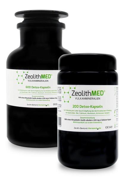 Zeolith MED® 800 Detox-Kapseln im Violettglas-Sparpack