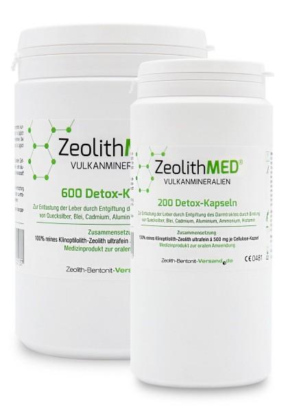 Zeolith MED® 800 Detox-Kapseln für 133 Tage im Sparpack