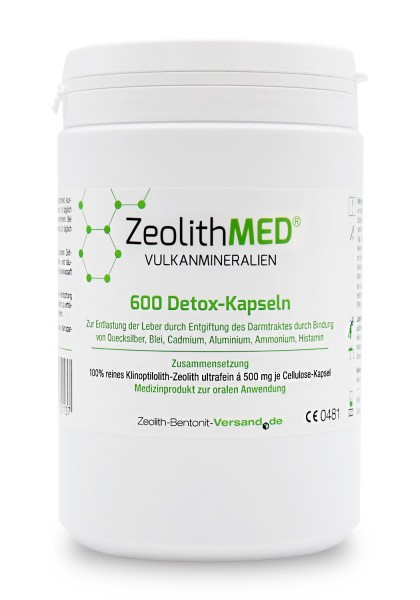 Zeolith MED® 600 Detox-Kapseln für 100 Tage