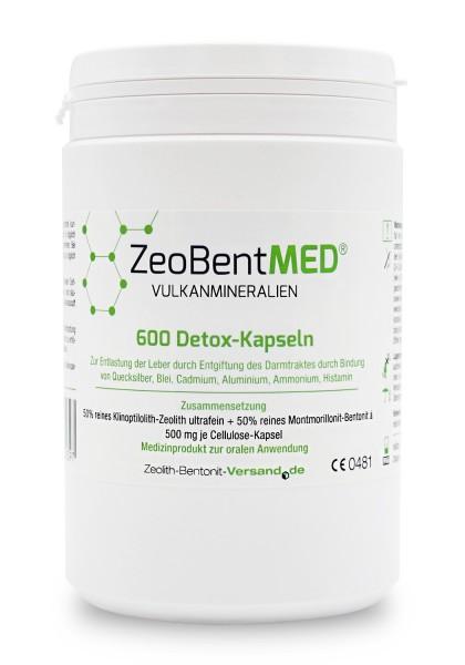 Zeobent MED® 600 Detox-Kapseln für 100 Tage