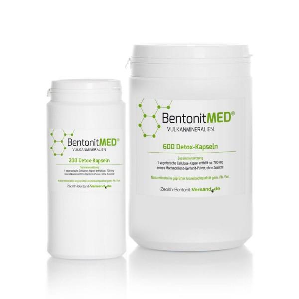 Bentonit MED® 800 Detox-Kapseln für 133 Tage im Sparpack