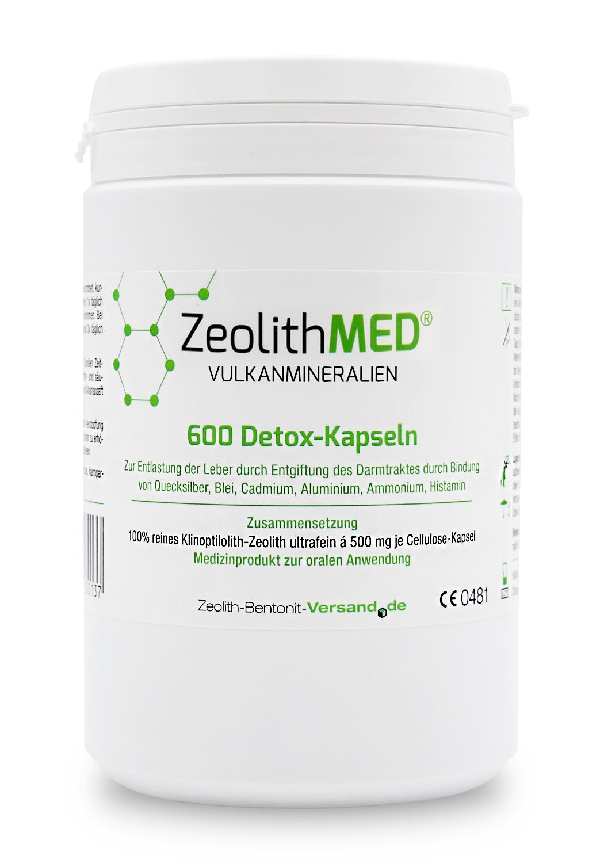 Zeolith MED® Detox-Kapseln - Zeolith Bentonit Versand