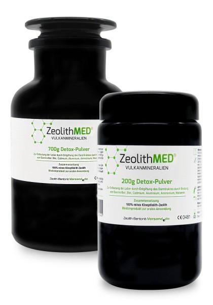 Zeolith MED® Detox-Pulver 900g im Violettglas-Sparpack