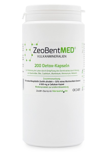 Zeobent MED® 200 Detox-Kapseln für 33 Tage