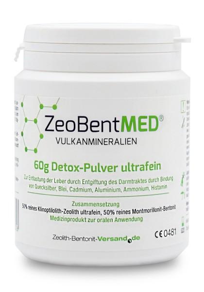 Zeobent MED® Detox-Pulver ultrafein 60g für 20 Tage