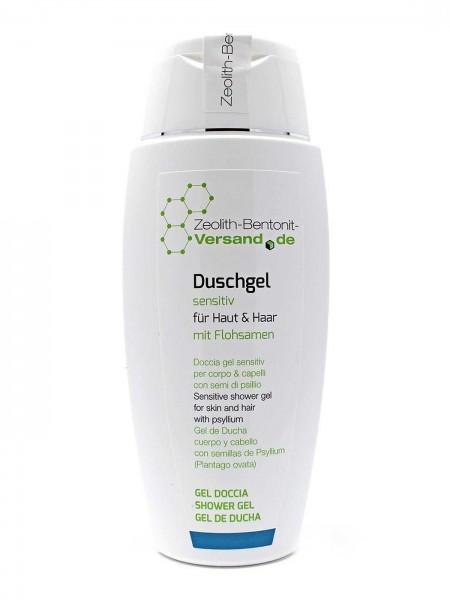 Duschgel sensitiv für Haut & Haar mit Flohsamen