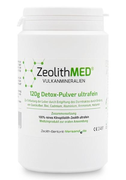 Zeolith MED® Detox-Pulver ultrafein 120g für 40 Tage