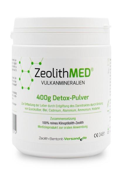 Zeolith MED® Detox-Pulver 400g für 40 Tage